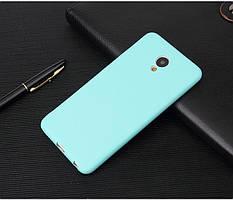 Чехол Meizu M6S 5.7'' силикон soft touch бампер голубой