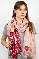 Женский шарф пудровый