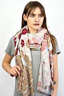 Женский шарф коричневый