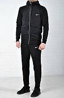 Мужской спортивный костюм Nike с капюшоном черного цвета