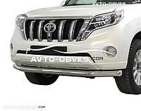 Защита переднего бампера Toyota Prado 150 2014-2018 одинарный ус (п.к. 48ebe6c9a09