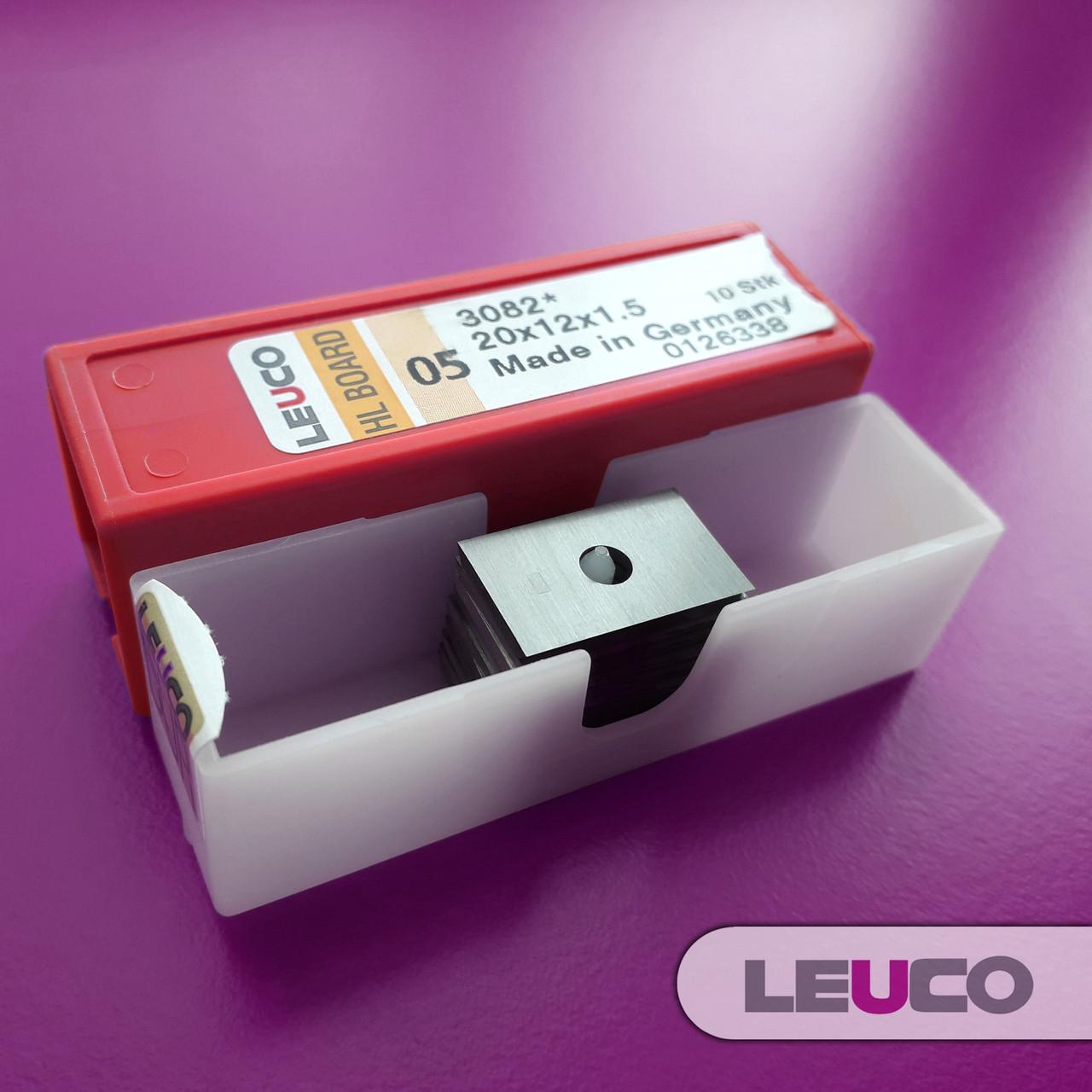 Сменные поворотные твердосплавные ножи (пластины) Leuco 20x12x1,5