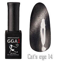 "Гель-лаки GGA Professional ""Кошачий глаз"" №14, 10ml"