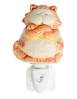 Фарфоровый светильник, ночник Котик (Pavone) JP-18/15