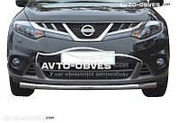 Одинарный ус для защиты бампера Nissan Murano 2009-2014 от ИМ Автообвес (п.к. V001)