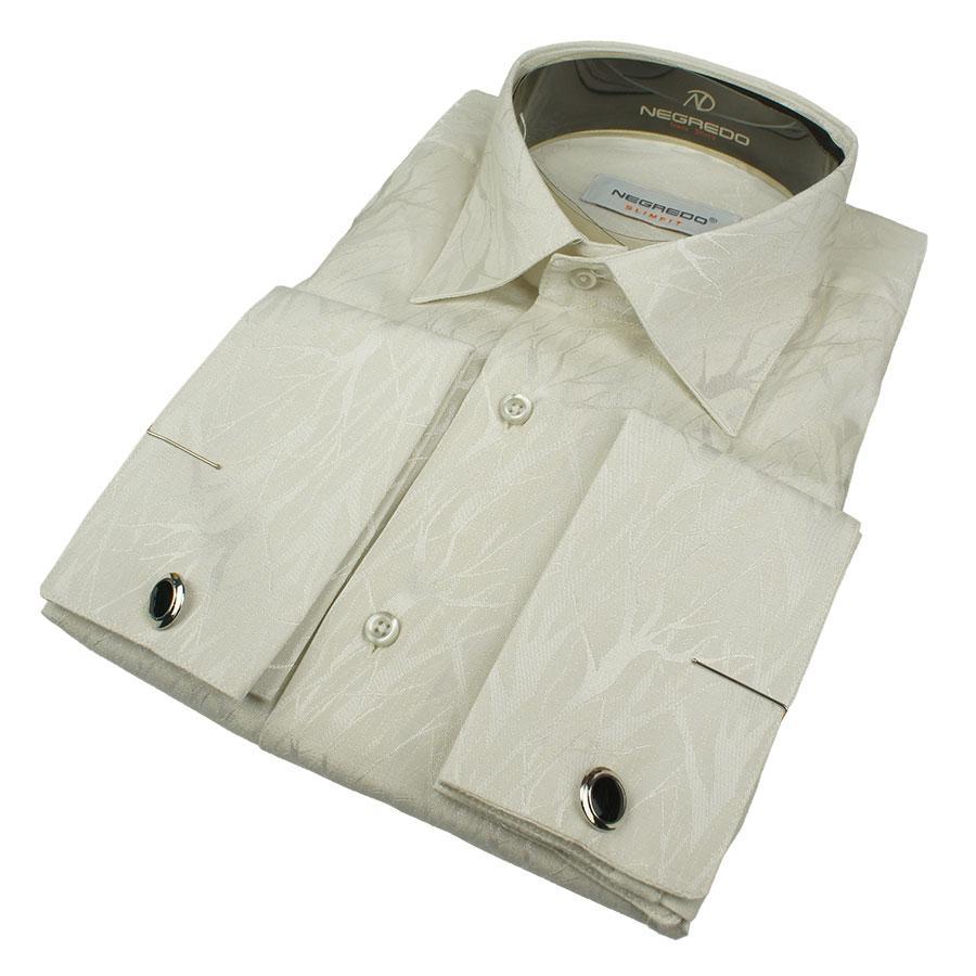 Турецкие мужские рубашки под запонку размер L 0250С
