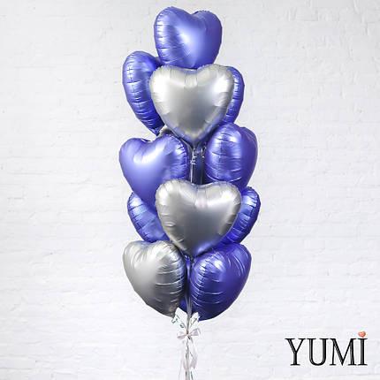 Композиция из 13 матовых воздушных шариков для мужчины, фото 2