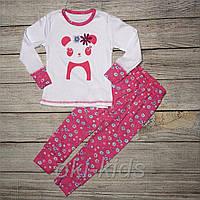 Пижама для девочки, с длинным рукавом. Панда.