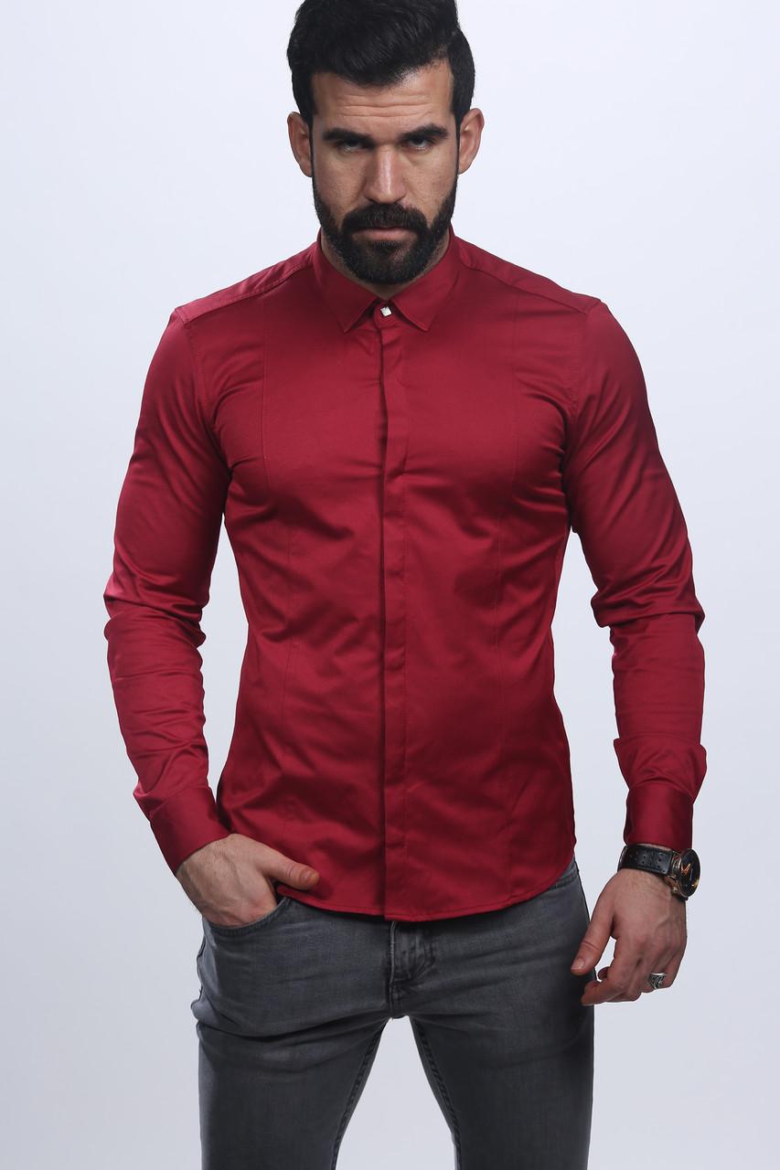 bf7de1bb003a60d Мужская атласная рубашка - Турция - 07-2018 (красный) - ИЗИДАмаркет в  Хмельницком