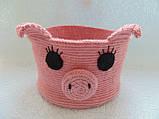 Декоративная корзинка для мелочей Свинка, фото 2