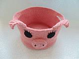 Декоративная корзинка для мелочей Свинка, фото 3