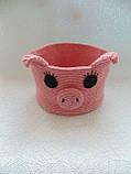 Декоративная корзинка для мелочей Свинка, фото 4