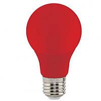 Светодиодная лампа Horoz A60 3W Е27 красная