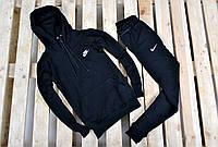 Мужской спортивный костюм Nike с капюшоном черный