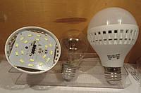 ,светодиодная лампа 9 вт Е27 холодный свет