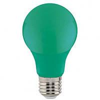 Светодиодная лампа Horoz A60 3W Е27 зеленая