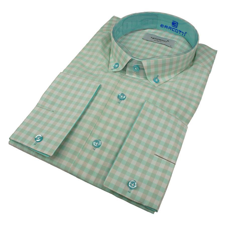 Мужские рубашки в крупную клетку размер L 0250С