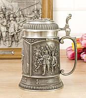 Коллекционный оловянный бокал для пива, пищевое олово, Германия, Рембрандт, фото 1