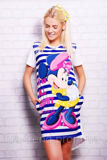 Длинная женская футболка Minnie