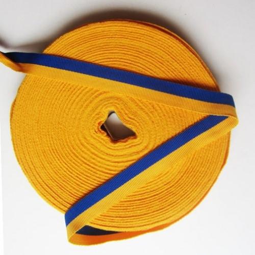 Лента репс сине-желтая, ширина-15 мм.