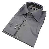 Мужские однотонные рубашки размер XL 0250С, фото 1