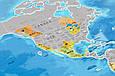 Скретч-карта мира Silver в рамке на английском, фото 3