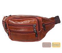 Мужская кожаная сумка на пояс Dovhani D1 + Подарок