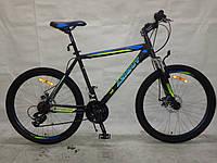Горный подростковый велосипед 26 дюйма  Azimut Vader в максимальной комплектации синий ***
