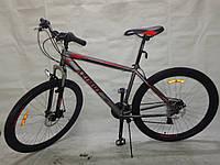 Горный подростковый велосипед 26 дюйма  Azimut Vader в максимальной комплектации серо-красный ***