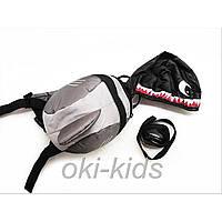 Детский рюкзак с капюшоном, Акула.