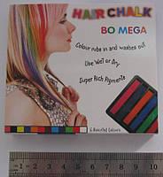 Мел для волос 6 цветов № 8357-6 Пастель для временного окрашивания волос.