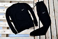 Мужской спортивный костюм Nike без капюшона черного цвета
