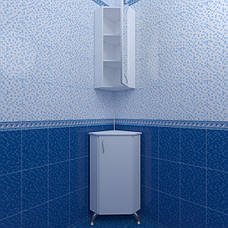 Зеркальный шкаф угловой для ванной комнаты Базис 30-011 правый ПИК, фото 3