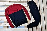 Мужской спортивный костюм Nike без капюшона комбинированного цвета (черный, красные плечи)