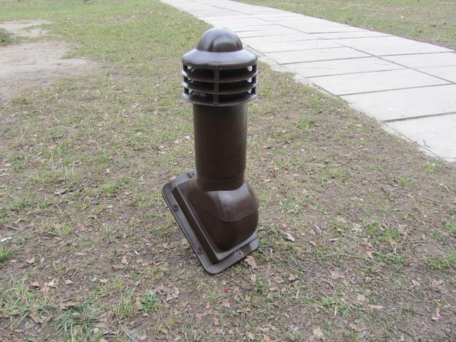 Вентвыход 110 мм под металлочерепицу цвет коричневый