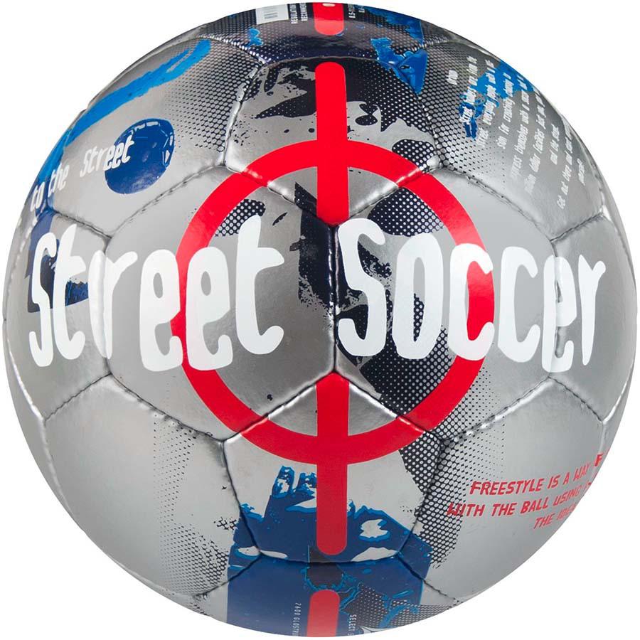 deee7c178cb6 Мяч футбольный SELECT Street Soccer серо-синий размер 4,5 - Интернет-магазин