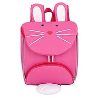 Детский рюкзак, розовый, Зайчик.