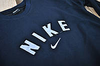 Мужской спортивный костюм Nike темно-синий с крупным логотипом