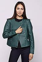 Куртка женская заменитель цвета хаки (зеленый) бренда Vero moda в размерах
