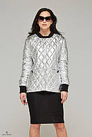 Женская демисезонная куртка К-61 металлик.