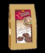 Песочное печенье с шоколадом в шоколадной глазури, 130 г