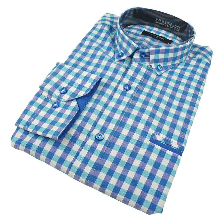 Мужские рубашки в крупную клетку размер XXL 0250С