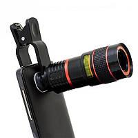 12x зум ,  объектив-прищепка для телефона, мобильный телескоп, Mobile Phone Telescope For iPhone6 for Samsung