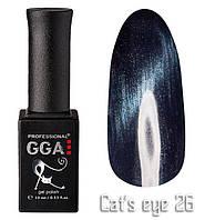 "Гель-лаки GGA Professional ""Кошачий глаз"" Термо №26, 10ml"