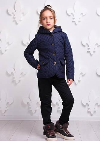 Детская демисезонная куртка для девочки Женева, размеры 122-140, фото 2