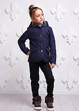 Детская демисезонная куртка для девочки Женева, размеры 146-164, фото 3