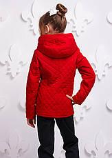 Детская демисезонная куртка для девочки Женева, размеры 122-140, фото 3