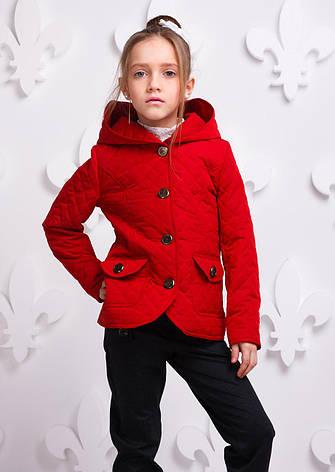 Детская демисезонная куртка для девочки Женева, размеры 146-164, фото 2