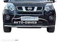 Одинарный ус для защиты бампера Nissan X-Trail T31 от ИМ Автообвес (п.к. V001)