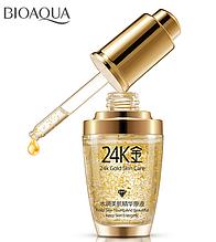24k Золото. Рідке масло. Зволоження. Яскравіше колір шкіри. Bioaqua.